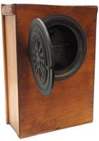 Antique German Arts & Crafts Mantel Clock Carved Detail 8 Day Mantle Clock (4 of 9)