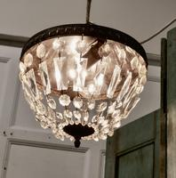 French Empire Style Crystal Basket Chandelier (2 of 19)