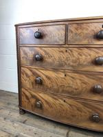 19th Century Mahogany Bow Front Chest of Drawers (11 of 12)