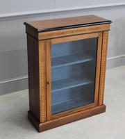 19th Century Walnut & Banded Display Bookcase (6 of 7)