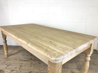 Rustic Stripped Pine Farmhouse Kitchen Table (9 of 11)