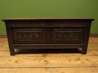 Antique Continental Carved Oak Coffer, Blanket Box, Hall Storage Chest for shoes (5 of 17)