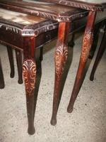 Nest of 3 Leather Top Tables (2 of 2)