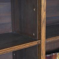 Large Victorian Oak Open Bookcase (4 of 8)
