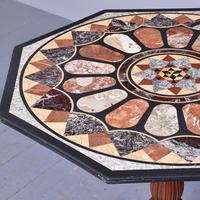 Antique Specimen Marble & Padouk Table (3 of 8)