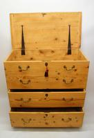 Large  2 Part Victorian Pine Mule Chest - Refurbished (14 of 27)