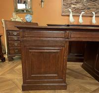 Important French Pedestal Desk from 19th Century in Oak (6 of 13)