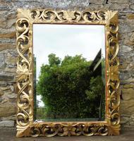 Large Antique Florentine Mirror with Crest (2 of 10)