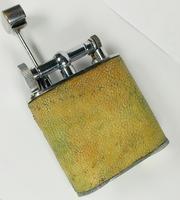 Rare Stunning Unique Art Deco Shagreen Lift Arm Lighter c.1930 (5 of 13)