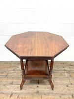 Late Victorian Walnut Octagonal Centre Table (3 of 10)