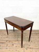 19th Century Mahogany & Boxwood Fold Over Table (5 of 10)