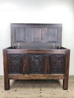 18th Century Carved Oak Coffer (6 of 10)