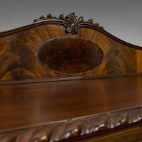 Antique Regency Revival Sideboard, English, Flame Mahogany, Victorian c.1900 (8 of 10)