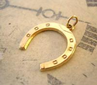 Vintage Pocket Watch Chain Horseshoe Fob 1979 Equestrian Large Fob (2 of 10)