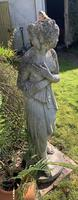 Weathered Patinated Garden Statue the Bath of Venus (2 of 6)
