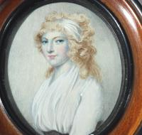 After Cosway - A Good Portrait Miniature of a Lady - Early 19th Century (2 of 5)