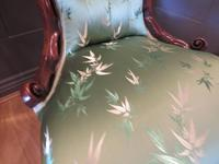Carved Walnut Ladies Chair New Upholstery (7 of 7)