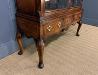 Burr Walnut Dome Topped Bookcase (6 of 18)