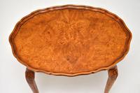 Antique Burr Walnut Pie Crust Nest of Tables (6 of 8)