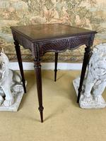 19th Century Carved Mahogany Occasional Table (4 of 7)