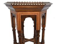 Damascan Side Table Octagonal Arabic Interiors Inlay (8 of 10)