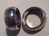 Pair of Silver Napkin Rings, Hallmarked Birmingham 1900 (2 of 3)