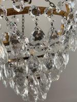 A Single Light French Waterfall Chandelier (4 of 8)