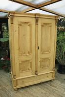 Fabulous & Large Old Pine Double 'Knock Down' Wardrobe - We Deliver! (13 of 18)