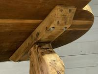 Large Rustic French Bleached Oak Farmhouse Dining Table (25 of 40)