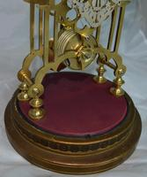 Victorian Skeleton Clock & Dome (3 of 4)