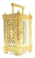 Fantastic French 8-day Fleur De Lis Decorated Panel 8-day Carriage Clock Timepiece c1890 (9 of 10)