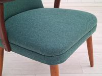 Danish Armchair, completely renovated, wool, teak, 1960s (9 of 16)