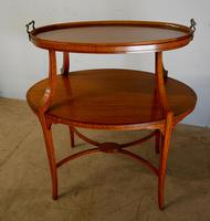 Satinwood Tray Top Table (3 of 8)