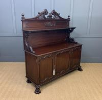 Late Victorian Carved Mahogany Chiffonier (4 of 17)
