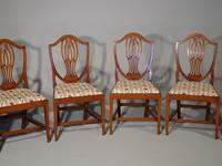 Most Elegant Set of 8 Early 20th Century  Walnut Framed Dining Chairs (2 of 5)