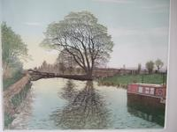 """Gilbert Browne Lithographic Print """"Stratford Upon Avon Canal II"""""""