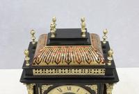 French 19th Century Ebonised & Boulle Religious Mantel Clock (6 of 10)
