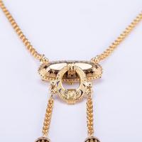 Antique Victorian Enamel 15 Carat Gold Tassel Necklace c.1860 (3 of 5)