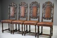4 Carved Oak Dining Chairs (2 of 13)