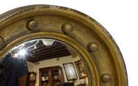 Pair of 19th Century Miniature Gilt Convex Mirrors (3 of 5)