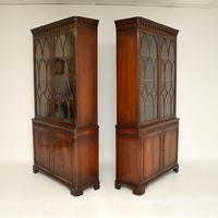 Pair of Antique Georgian Style Mahogany Bookcases (3 of 11)