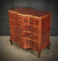 Walnut Serpentine Shaped Chest of Drawers (7 of 14)
