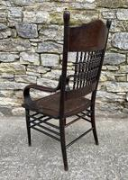 Antique American Armchair with Steamed Bentwood Arms (7 of 14)