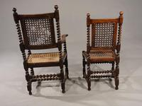 Attractive Set of 6 Early 20th Century Jacobean Style Chairs in Oak (4 of 4)