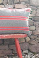 Early 20th Century, Antique Swedish Woven Textile, Geometric Patterned 're-stuffed cushions' (10 of 20)