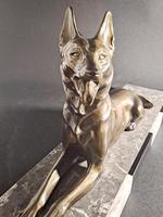 Art Deco Metal Dog Sculpture (6 of 7)