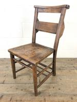 Set of Four Victorian Elm Chapel Chairs (6 of 8)