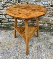 Antique Pine Cricket Table with Shelf (10 of 11)