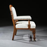 19th Century Oak Gothic Armchair By G Tilley Of Birmingham (4 of 10)