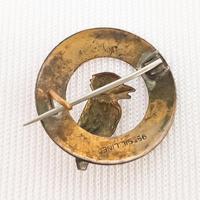 9ct Gold on Silver Woodpecker Brooch (2 of 2)